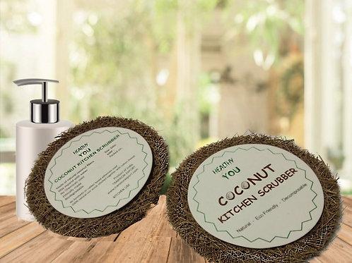 Coconut Kitchen Scrub Pads Circle