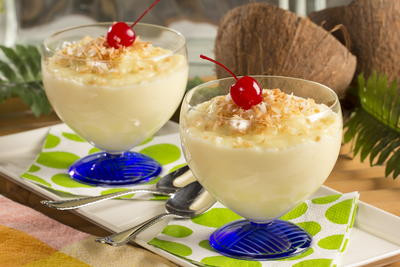 'Young Coconut' Pudding