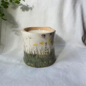 Sarah Pettitt Ceramic Pot and Candle