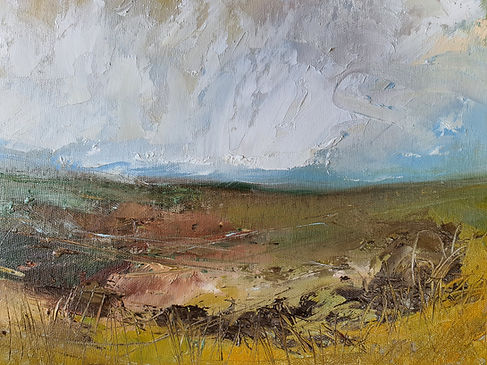 Fields of yellow umbre 30 x 40