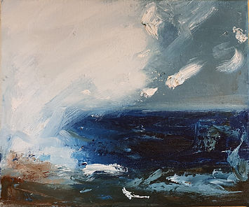 Abstract Storm 30 x 30cm