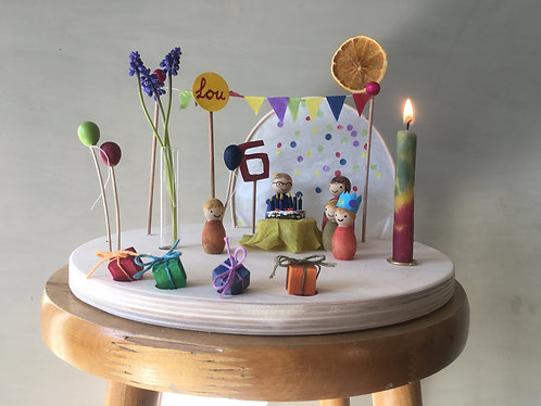 Birthday set with out base-plate