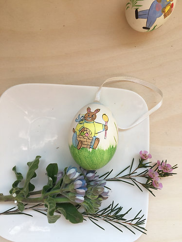 3 painted chicken egg