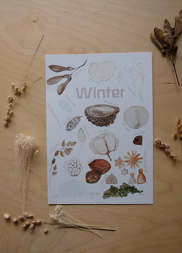 A4 Winter Print