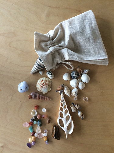 collection of stone and shells