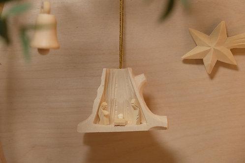 mini wooden nativity scene