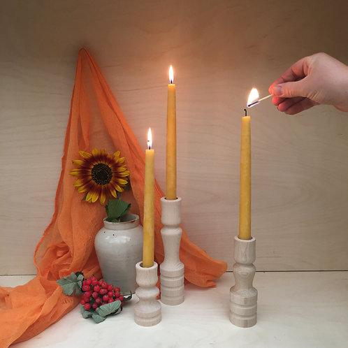 wooden candleholder small