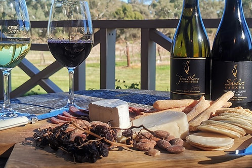 Wine Tasting with Cheese Platter For Two People