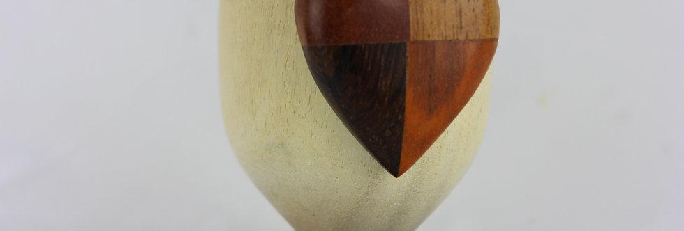 A Trio of Retro Wooden Egg Cups