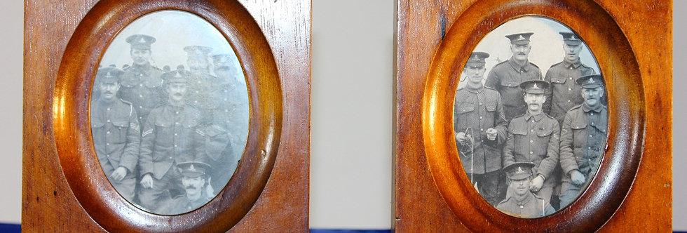 Vintage Small Oak Picture Frames