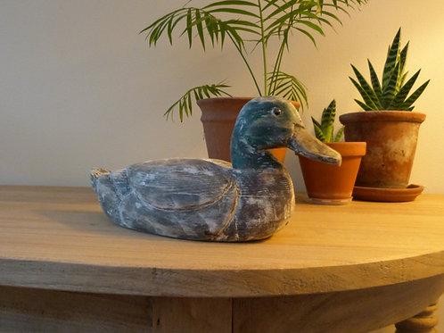 Wooden Decoy Duck
