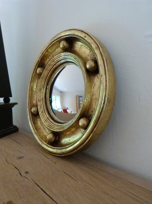 Small round Gold Convex Mirror NOW SOLD