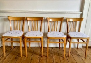 SOLD 60's chairs and formica table