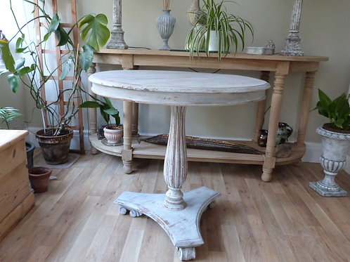 Vintage Country Style Pedestal Table