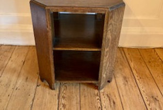Art Deco oak octagonal coffee/book table