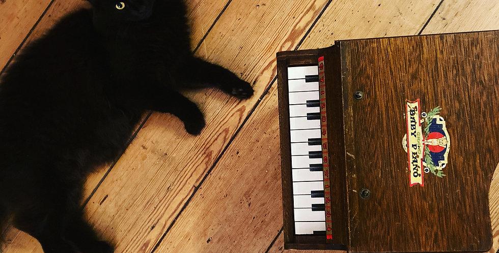 Retro Wooden Toy Piano