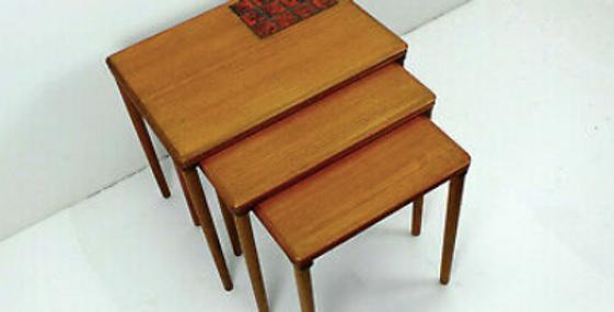Vintage Danish Mid Century Nesting Tables