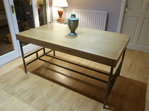 Mid Century Oak and Steel dinning table by Peter Granger 1960's
