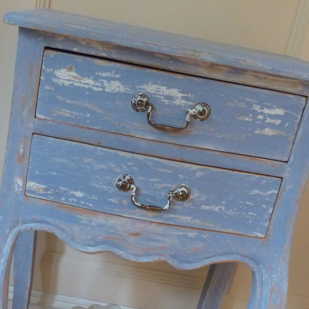 Blue Painted Occasional table