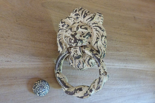 Cast Iron Lion's Head Door Knocker - NOW SOLD