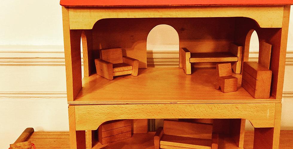 James Galt Mid Century Dolls House & Furniture