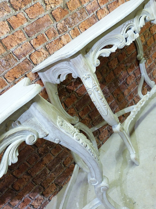 A Pair of French Baroque Style Console Tables