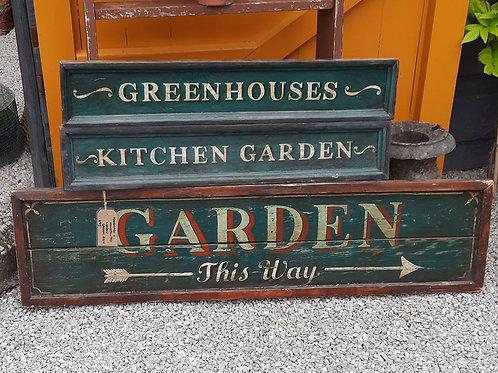 Wooden GARDEN Sign