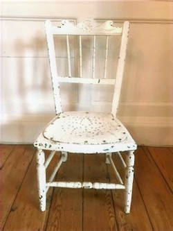 Retro Small White Chair