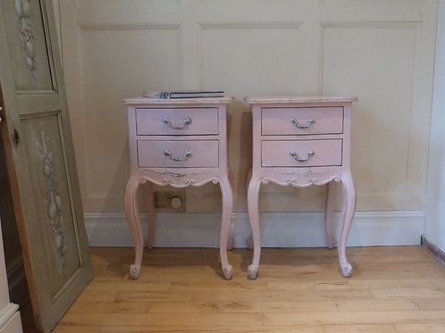 A pair of French Country Occasional or Bedside tables.