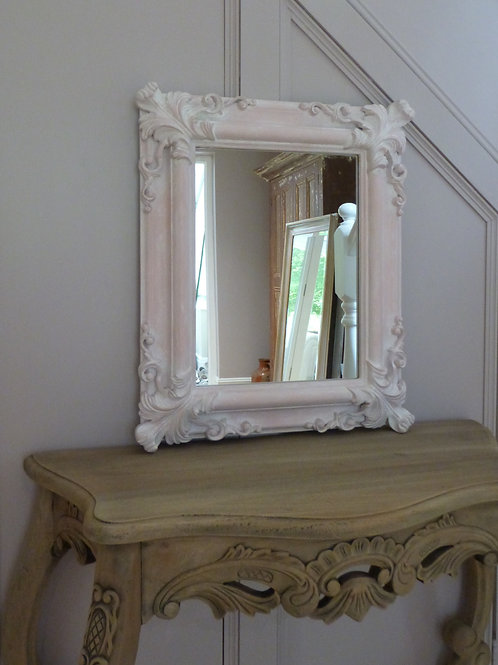 Ornate Pink French Style Mirror