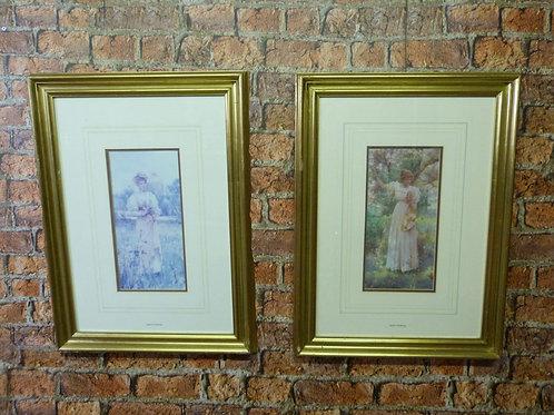 Pair of Fine Art Prints by Alfred Augustus Glendening