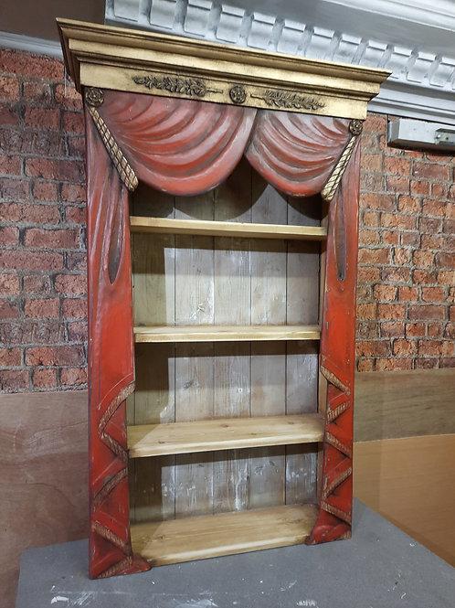 Antiqued finish Curtain Cupboard