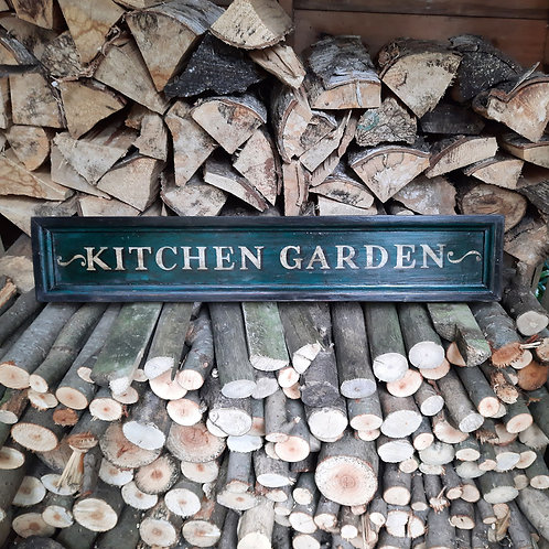 A pair of Estate style garden signs