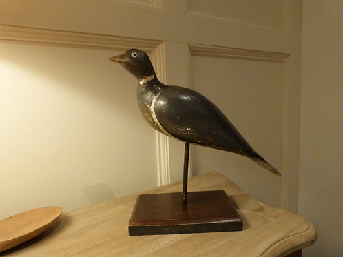 Wood Decoy Pigeon on Stand - NOW SOLD