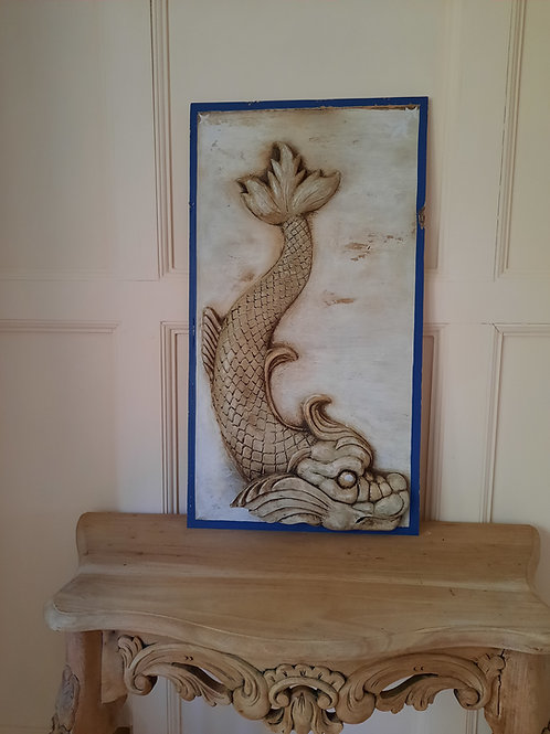 Classical stylized Dolphin - Baroque, Renaissance Wall Plaque