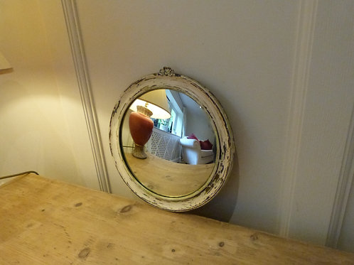 Distressed small Vintage Convex mirror NOW SOLD
