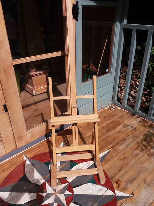Vintage Wooden Table Top Painting Easel