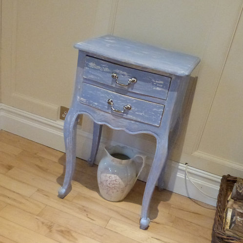 French Country style occasional table in PowderBlue