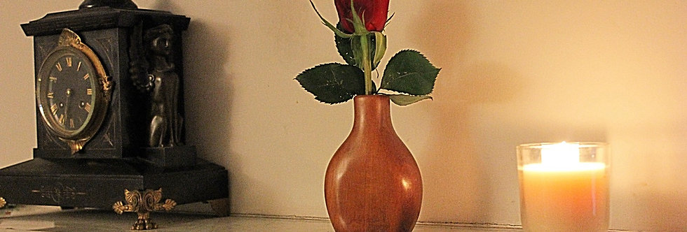 A Small Wooden Vase
