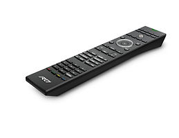 We exclusively use RTI remotes because they let us custom program the software to fit your system.