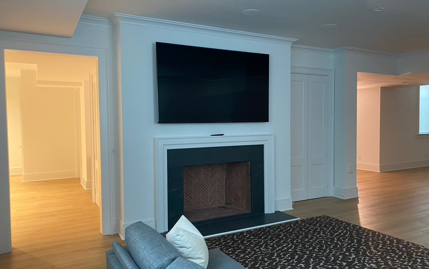 Media Room with Sony TV and Surround Sou