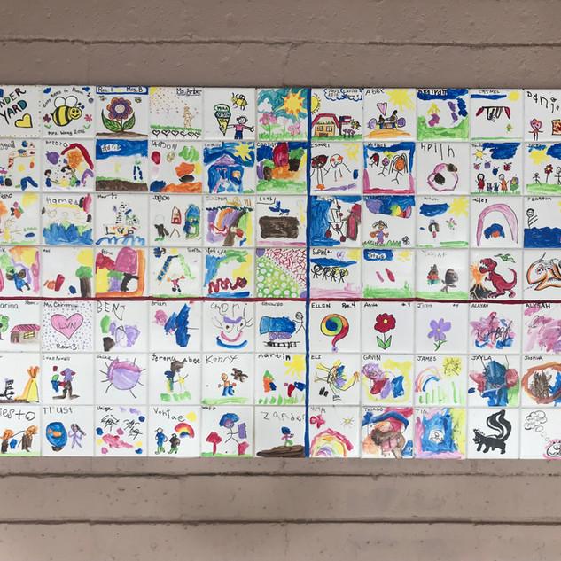 Kinder Art Mural