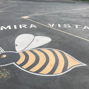 Mira Vista Bee on Play Yard