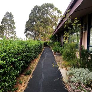 Walkway by Lower Buildings