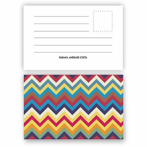 Cartão tipo Postal Missoni Color| 12 unidades