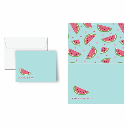 Cartão duplo estampado Melancia | 10 unidades