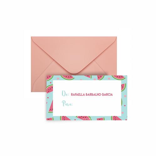 Mini cards de/para  Melancia | 24 unidades