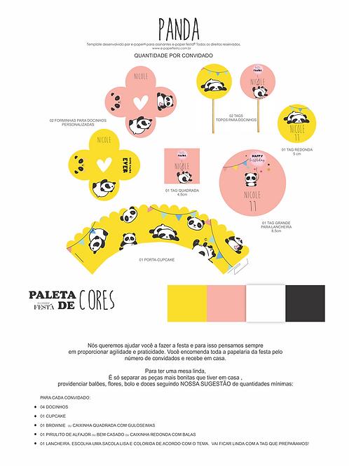 Festa PANDA para 12 crianças