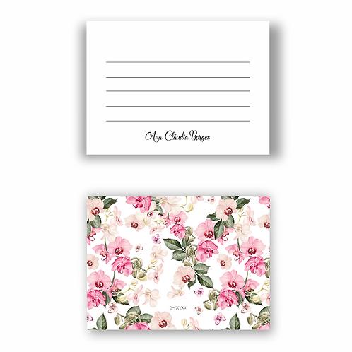 Cartão tipo Postal  Orquídea | 12 unidades
