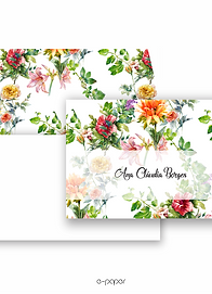 Cartão duplo estampado Tropical Garden | 10 unidades